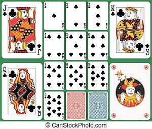Jugando al juego de cartas