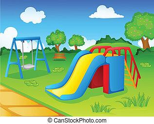 Jugar al parque para niños