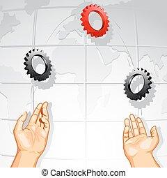 Juggling rueda de engranaje