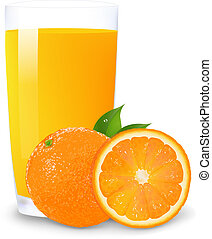 jugo de naranja, rebanadas