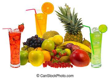 jugo, fruta, fresco