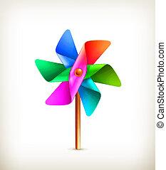 Juguetón multicolor, vector