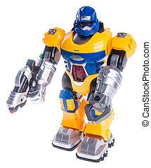 juguetee robot, plano de fondo