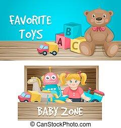 Juguetes de juguetes horizontales