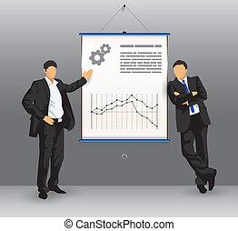 Junta de presentación de negocios con gente de negocios