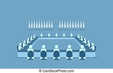 juntos, discutir, diferente, países, encontrar, sentado, líderes, sobre, matters., importante