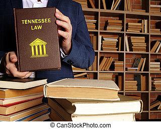 jurista, leyes, estado, book., ley federal, tennessee, tema, u..s.., asideros, residentes