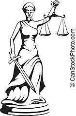 justicia, -, diosa, themis