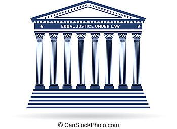 justicia, edificio, imagen, tribunal, logotipo
