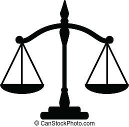 justicia, escalas