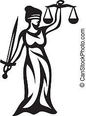 justicia, estatua