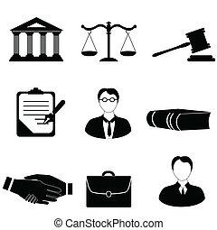 Justicia, iconos legales y legales