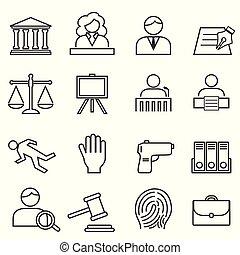 Justicia, ley, ícono legal