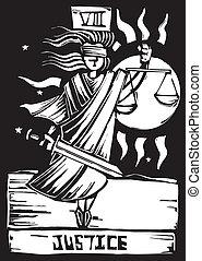 justicia, tarjeta del tarot