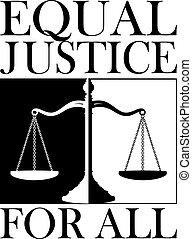 justicia, todos, igual