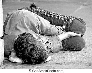 juventud, calle, sin hogar