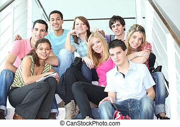 juventud, escaleras