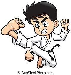 karate, patada