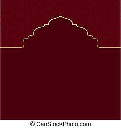 kareem, diseño, islámico, plano de fondo, ramadan