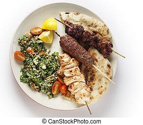 Kebab tabouleh bbq de arriba