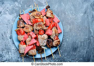 Kebabs, carne asada