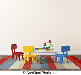 kidsroom, interior, playroom