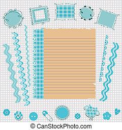 Kit de álbumes azules