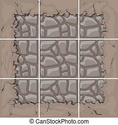 Kit de baldosas de piedra