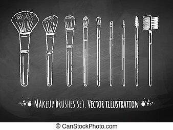 Kit de cepillos de maquillaje.