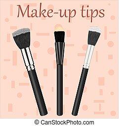 Kit de cepillos de maquillaje profesional.