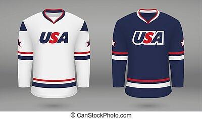 Kit de hockey realista