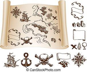 Kit de mapa del tesoro