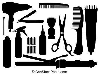 Kit de peluquería de vector