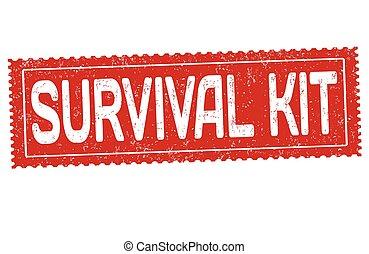 Kit de supervivencia sello de goma grunge