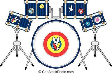 Kit de tambores Hippie