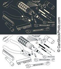 kit, hogar, herramienta