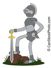 Knight con su espada