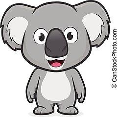 Koala en pie