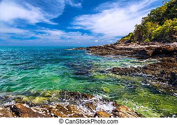 koh samet, mar de andaman, tailandia, costa