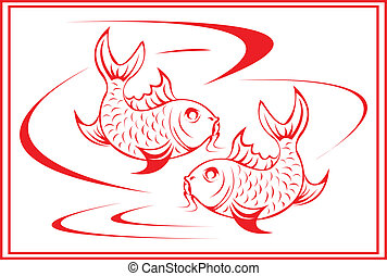 koi, fish.