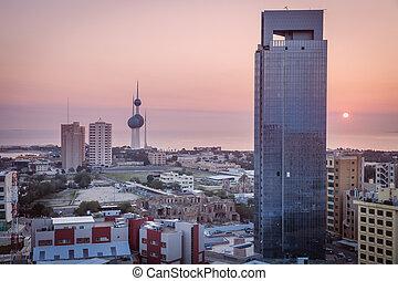Kuwait panorama al amanecer