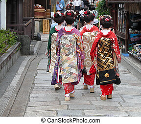 kyoto, geisha, calle