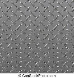 lámina de metal sin placa de diamante. Vector