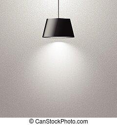 lámpara, ahorcadura