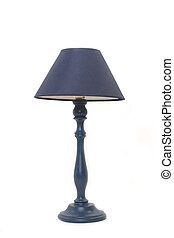 Lámpara azul aislada