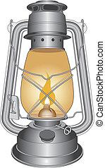 Lámpara de aceite o linterna