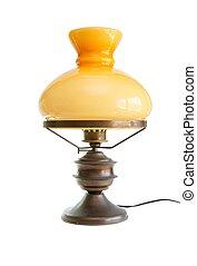 Lámpara de mesa estilizada como lámpara de aceite antigua aislada