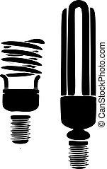 lámpara, ilustración, vector, fondo blanco
