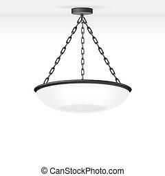 lámpara, vector, aislado