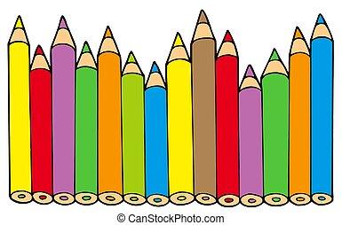 lápices, colores, vario